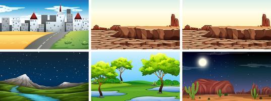 Set van natuurlandschap