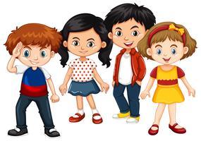 Gelukkige jongens en meisjes samen
