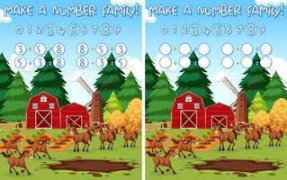 Maak een nummerfamilie vector