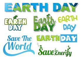 Set van aarde banner vector