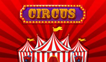 Een fantasie circus banner vector