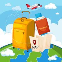 Een set reiselementen vector