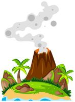 Vulkaan op het eiland