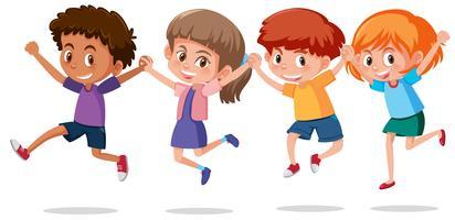 Set van gelukkige kinderen