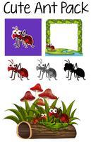 Een pakje mier vector