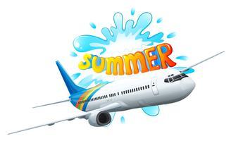 Een vliegtuigavontuur voor de zomer vector