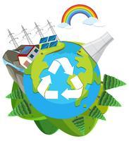 Een natuur groen engery logo