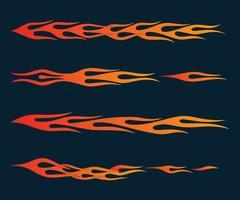 vuurvlammen in tribale stijl voor tattoo, voertuig en t-shirt deco vector