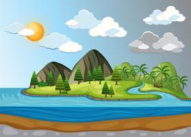 Weer en klimaat landschap vector