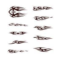 Tribal tatto collectie set. vlam tattoo totem Vector illustratie ontwerp