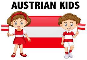 Jongen en meisje uit Oostenrijk vector