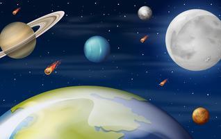 Een scène van ruimte