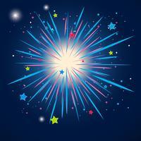 Kleurrijk vuurwerk in de hemel bij nacht