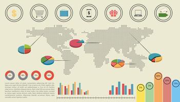 Een grafische interface van de economie vector