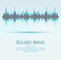 Abstracte digitale equalizer, creatief ontwerp geluidsgolf patroon element achtergrond.