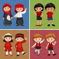 Kinderen uit verschillende landen vector