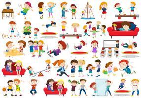 Set van kinderen karakter vector