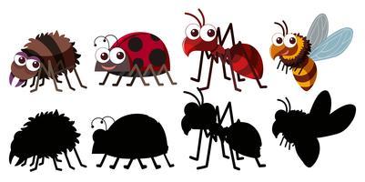 Set van insect karakter