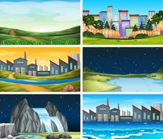 Set van verschillende locatie scène