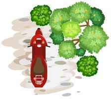 Een luchtfoto van scooter vector