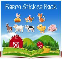 Set van boerderijdieren vector