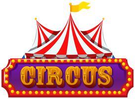 Een geïsoleerde circusbanner vector