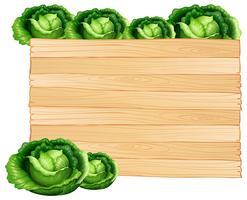 Houten plank en kool
