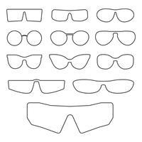 Glazen frames geïsoleerd