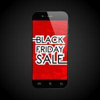 Zwarte vrijdag verkoop smartphone vector