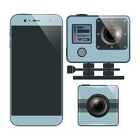 smartphone camera set vector