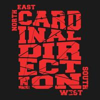 Kardinaal richtingstempel vector