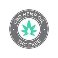 CBD Oil-pictogram. THC Gratis.