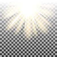 Zonnestralen achtergrond vector