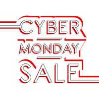 Cyber maandag te koop vector