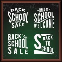 School groene schoolbord vector