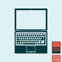 Laptop computerpictogram vector