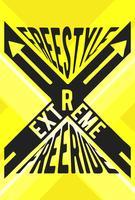 Extreme sportzegel vector