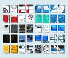 Brochures dekkingsmalplaatje vector