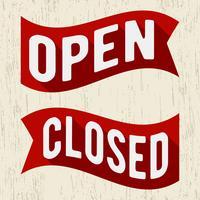 Open gesloten symbool