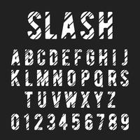 Alfabetlettertype schuine streep vector