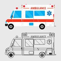 Ambulance auto geïsoleerd