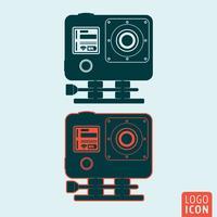 Actie camera-icoon vector