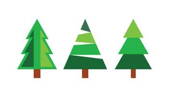 Geïsoleerde kerstbomen vector