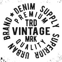 Vintage ronde zegel stempel vector