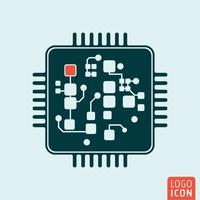 Chip computer geïsoleerd vector