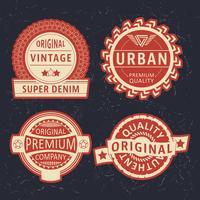 vintage label ingesteld