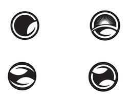 bladgroen natuur logo en symbool sjabloon vector