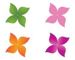 Bloem bloemenpatronen op een witte achtergrond vector