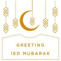 Mohammedaanse dag achtergrond sjabloon vector illustratie behang