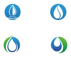 waterdruppel Logo Template vector illustratie ontwerp